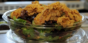 Fried Oyster Salad From Crabby Jack's